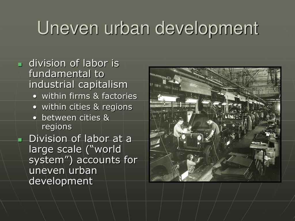 Uneven urban development