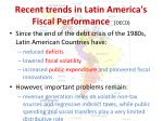 recent trends in latin america s fiscal performance oecd