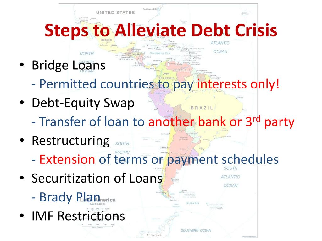Steps to Alleviate Debt Crisis