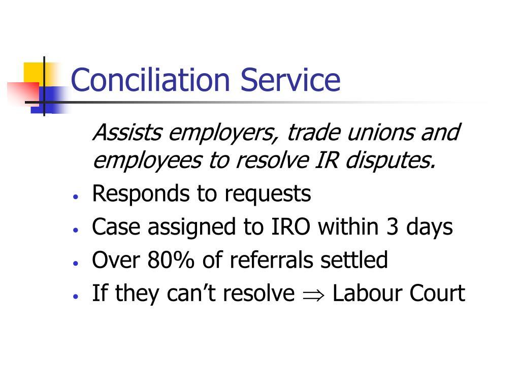 Conciliation Service