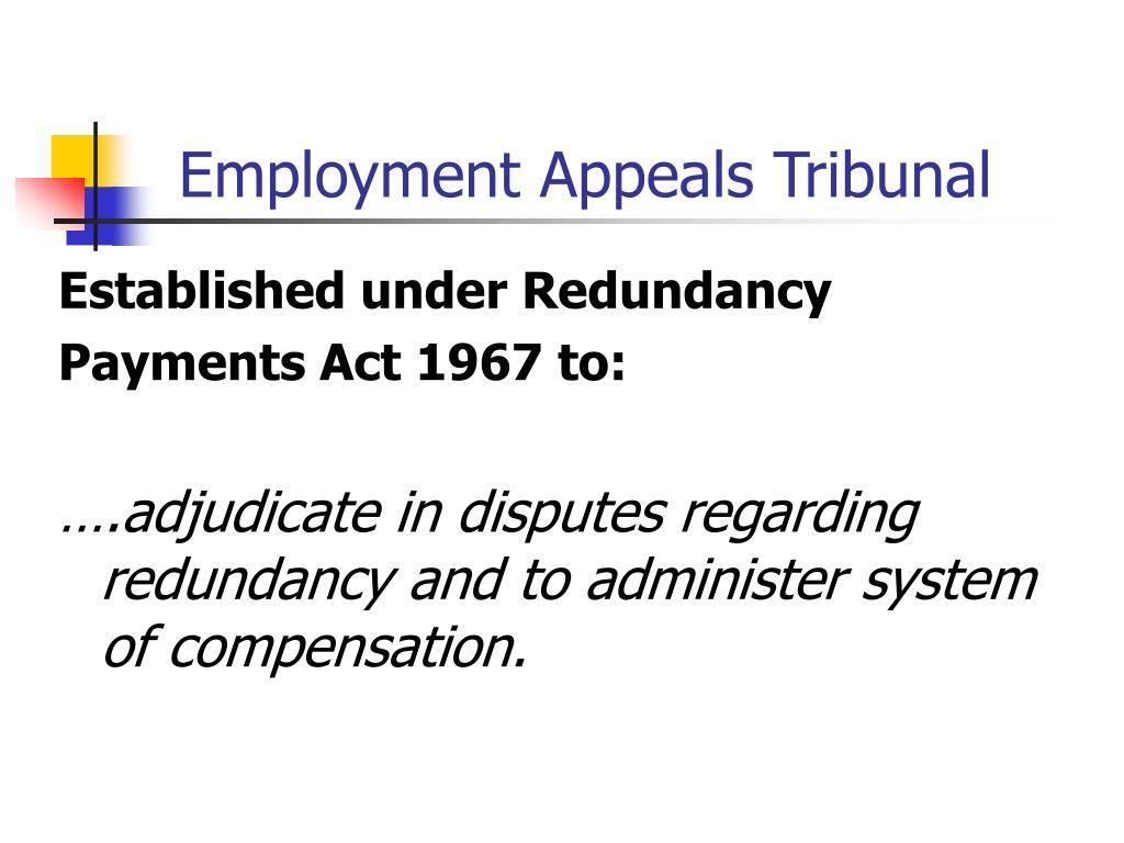 Employment Appeals Tribunal
