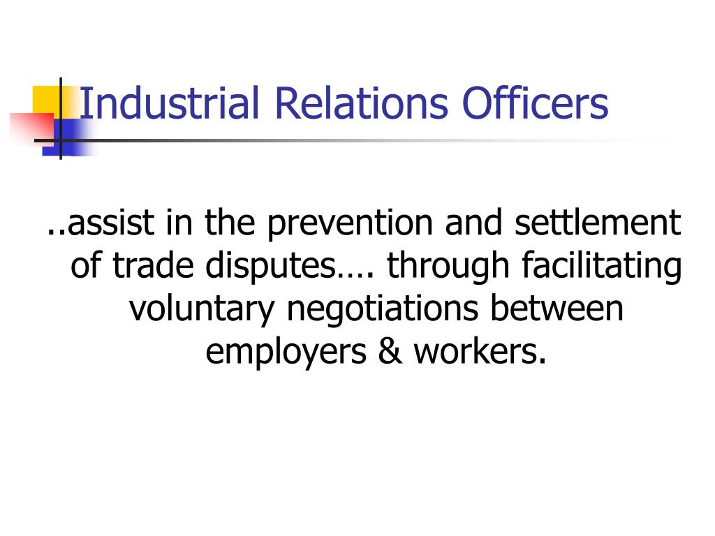 Industrial Relations Officers