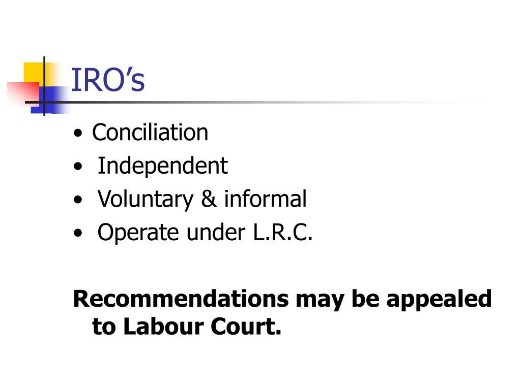 IRO's