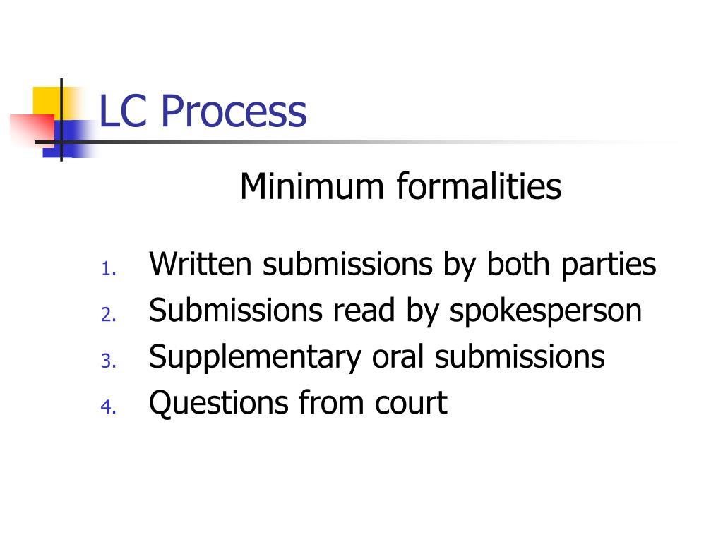 LC Process
