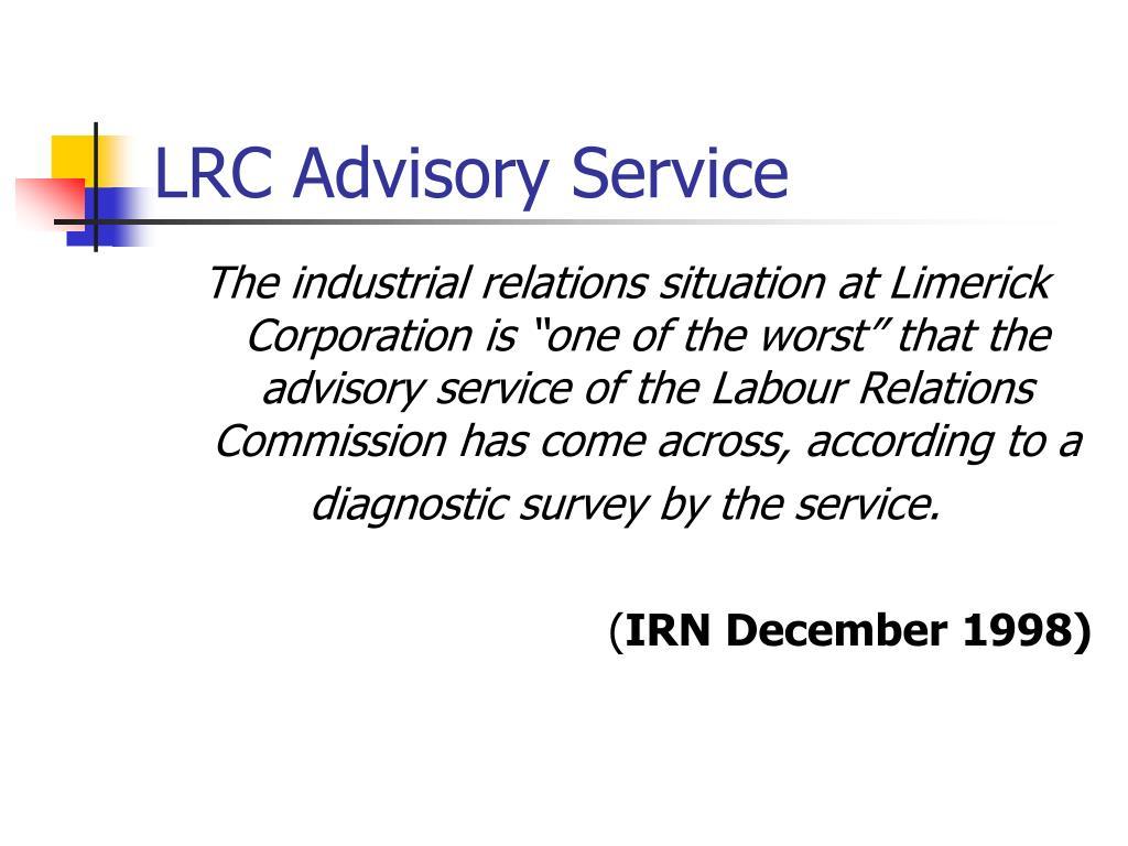 LRC Advisory Service