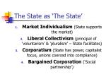 the state as the state