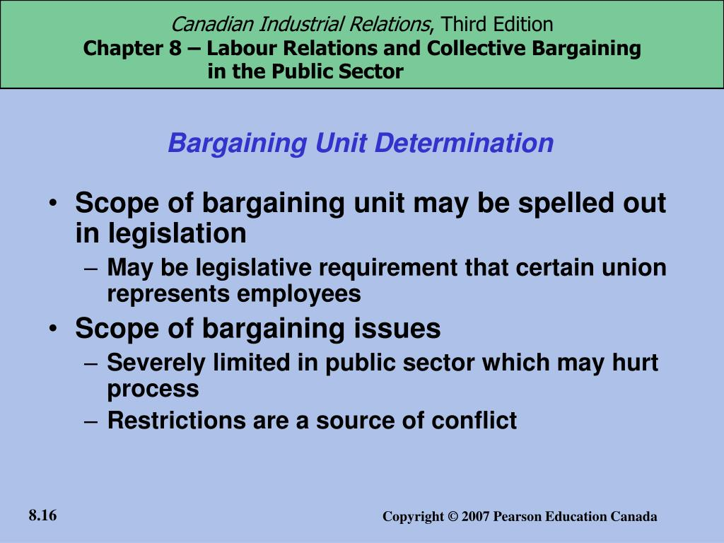 Bargaining Unit Determination