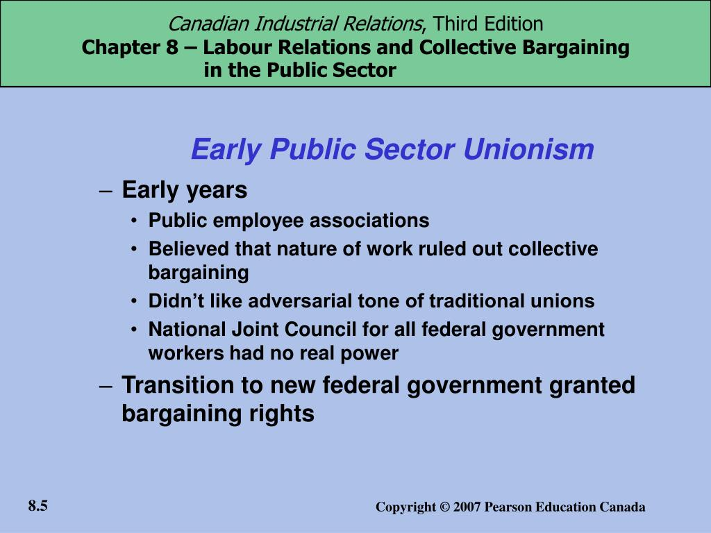 Early Public Sector Unionism