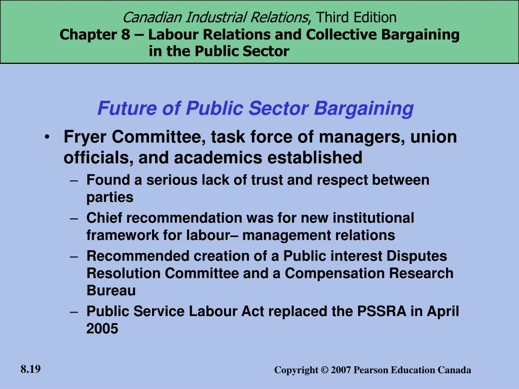 Future of Public Sector Bargaining