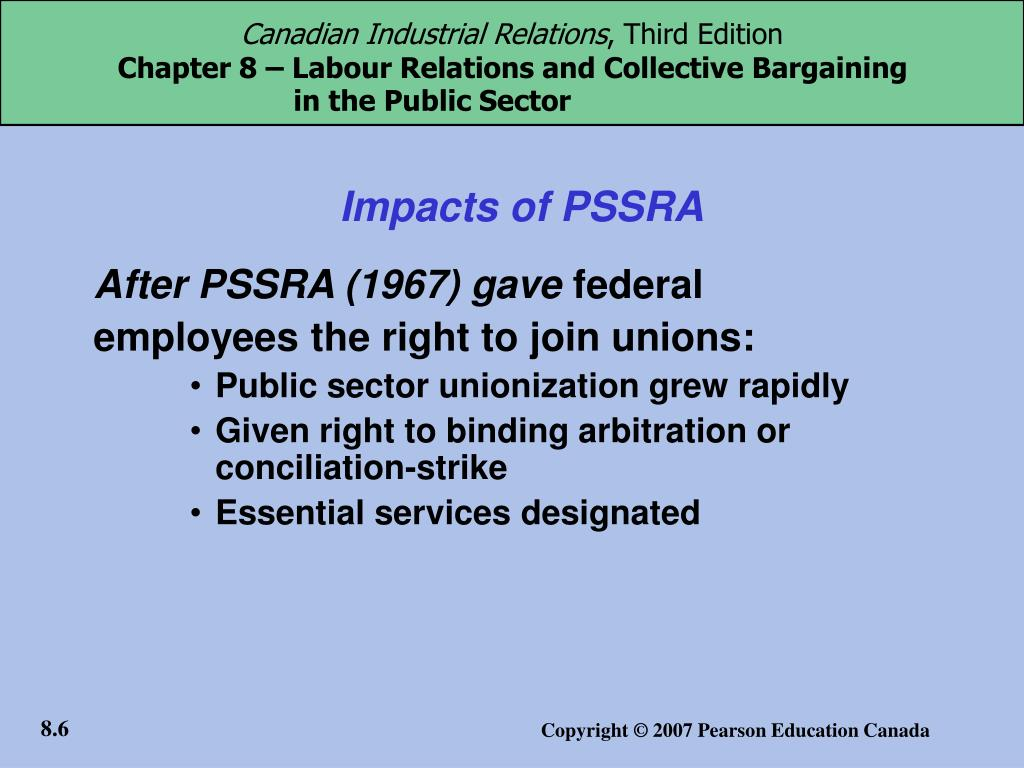 Impacts of PSSRA