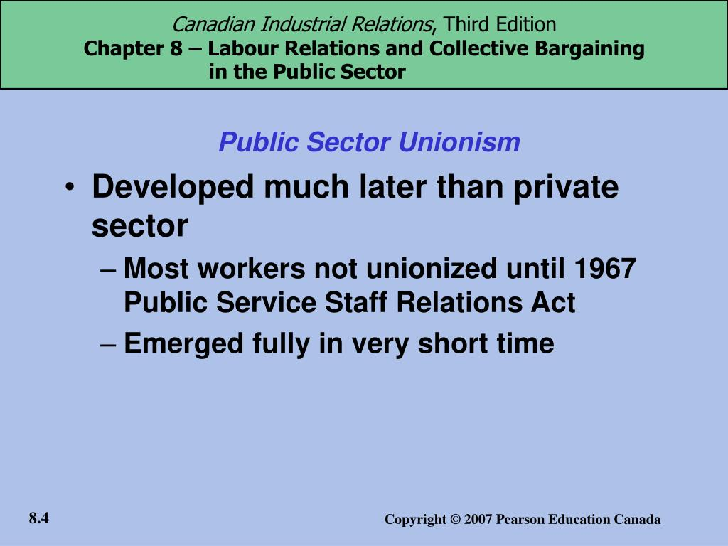 Public Sector Unionism