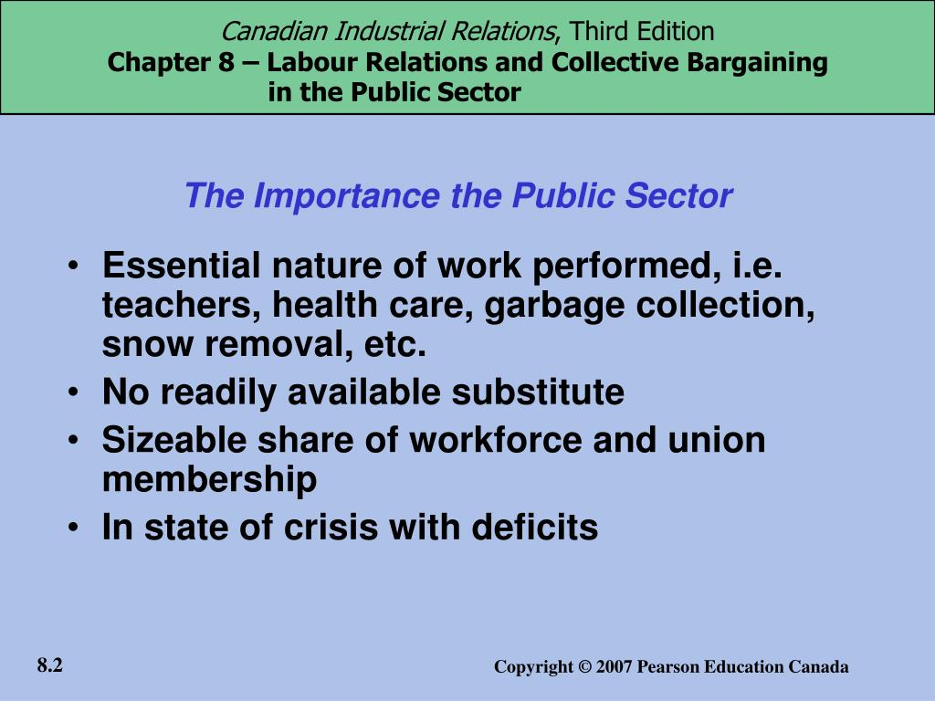 The Importance the Public Sector