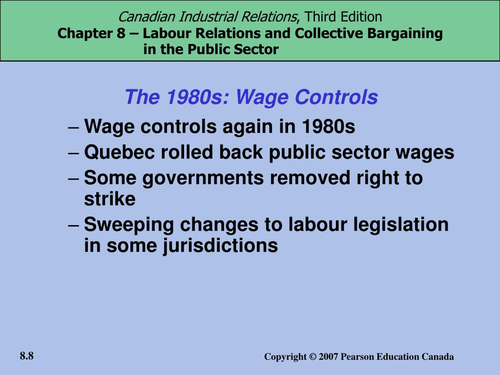 The 1980s: Wage Controls