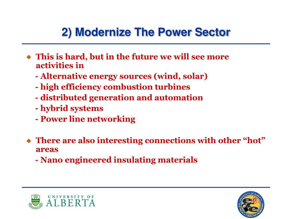 2) Modernize The Power Sector