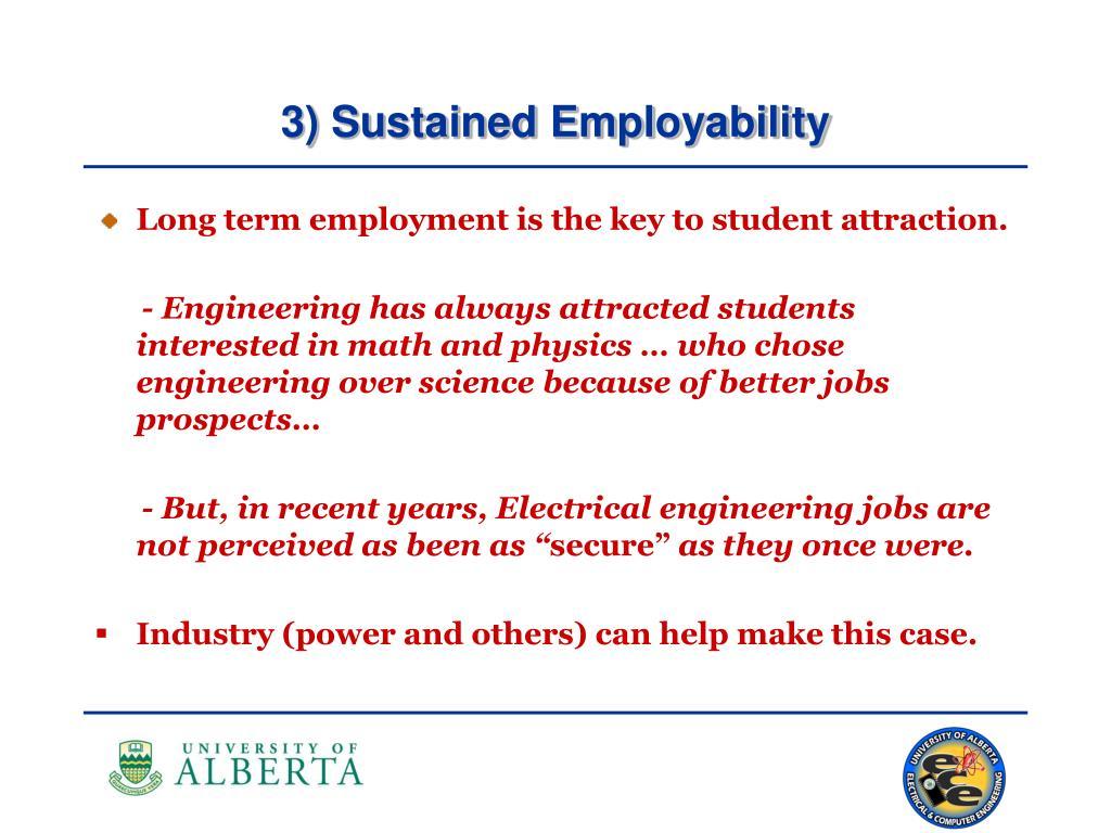 3) Sustained Employability