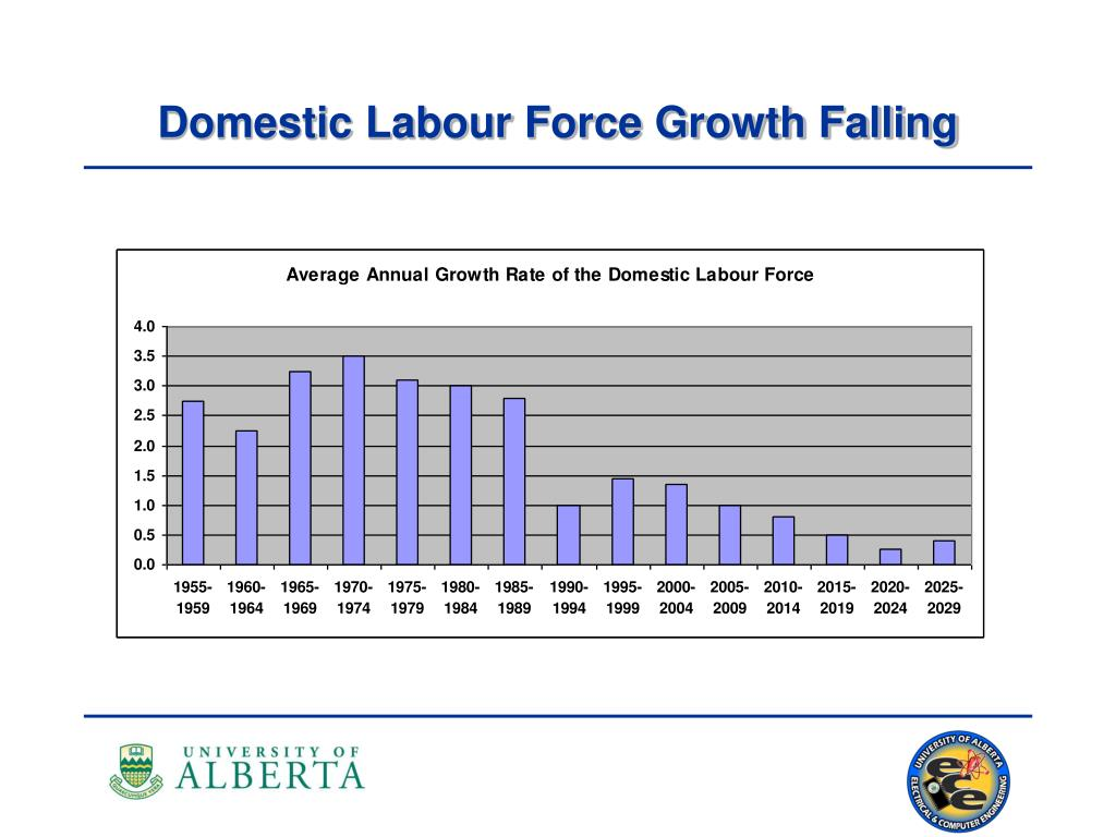 Domestic Labour Force Growth Falling