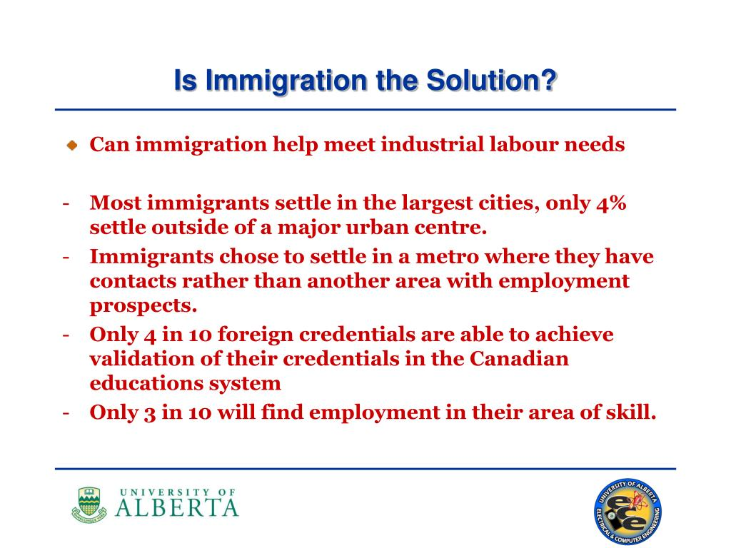Is Immigration the Solution?