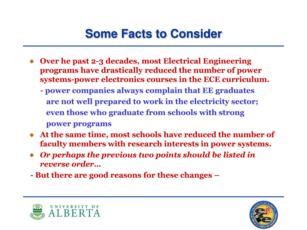 Over he past 2-3 decades, most Electrical Engineering programs have drastically reduced the number of power systems-power electronics courses in the ECE curriculum.