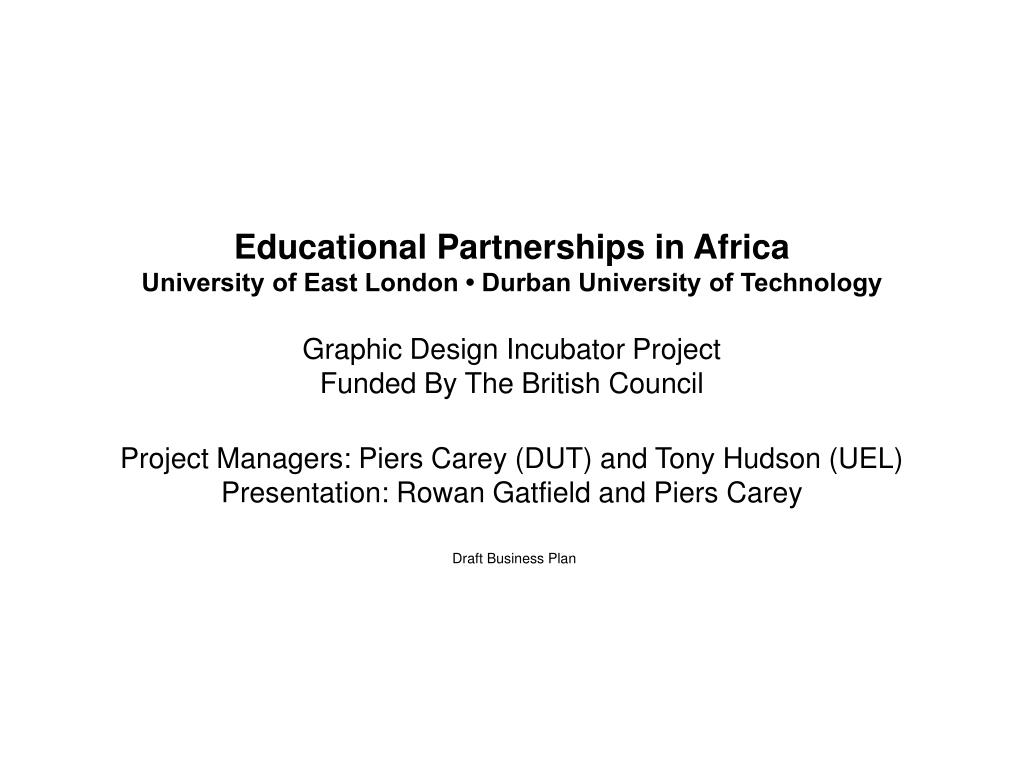 Educational Partnerships in Africa