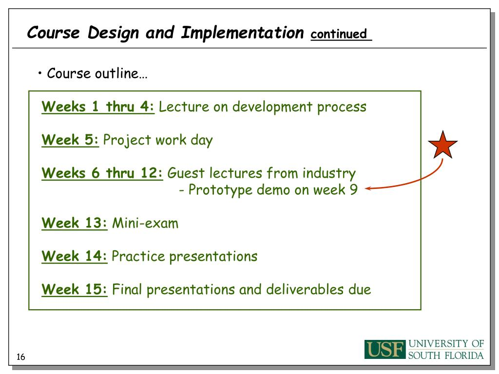 Course Design and Implementation