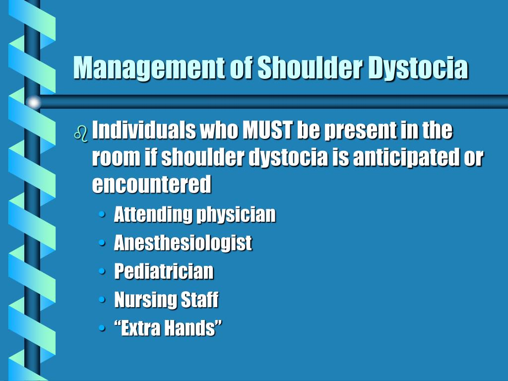 Management of Shoulder Dystocia