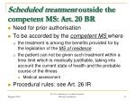 scheduled treatment outside the competent ms art 20 br