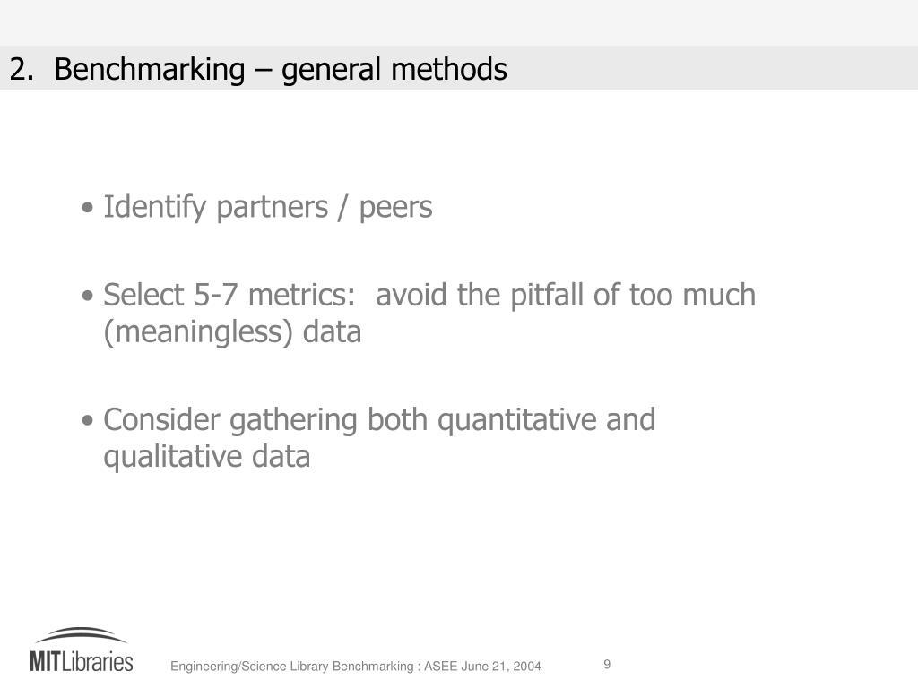 Identify partners / peers
