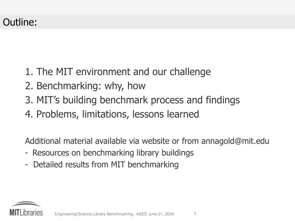 The MIT environment and our challenge