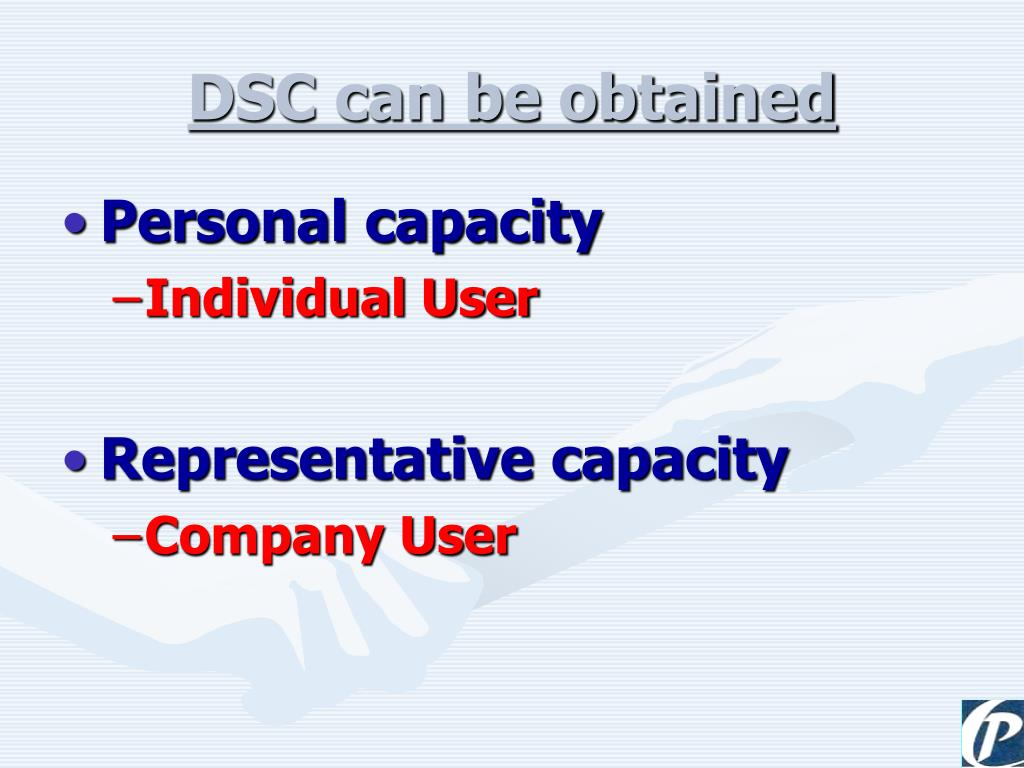 DSC can be obtained