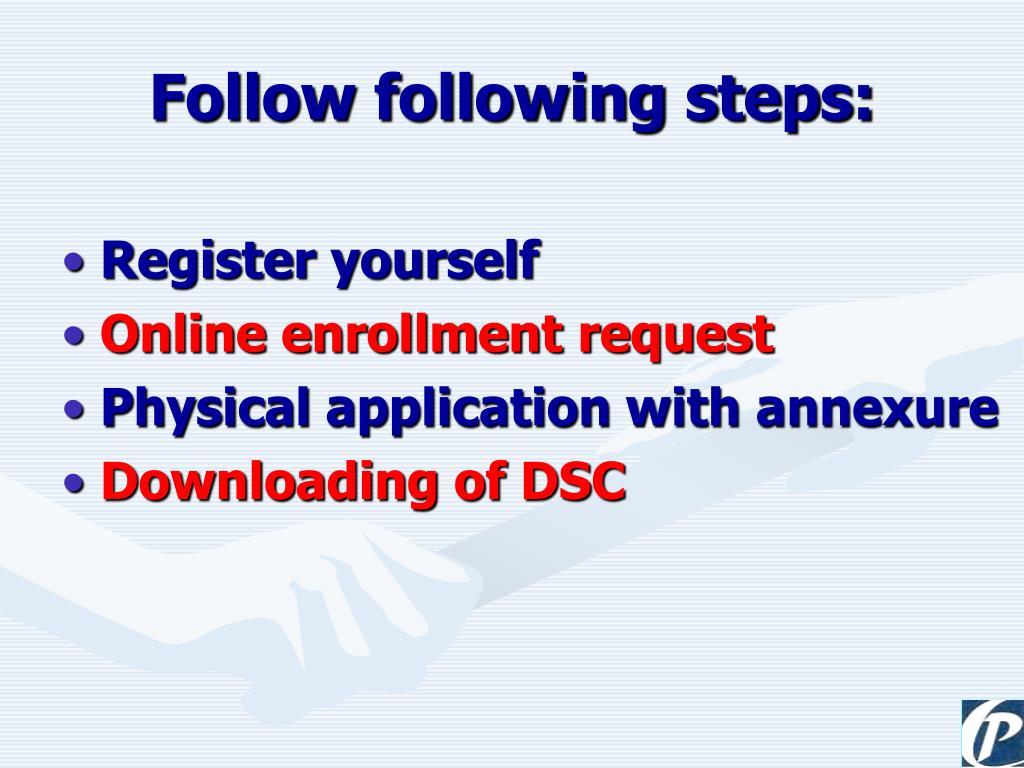 Follow following steps: