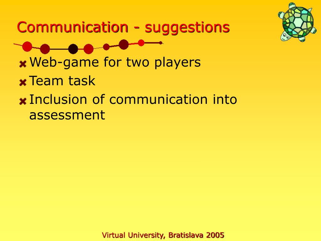 Communication - suggestions