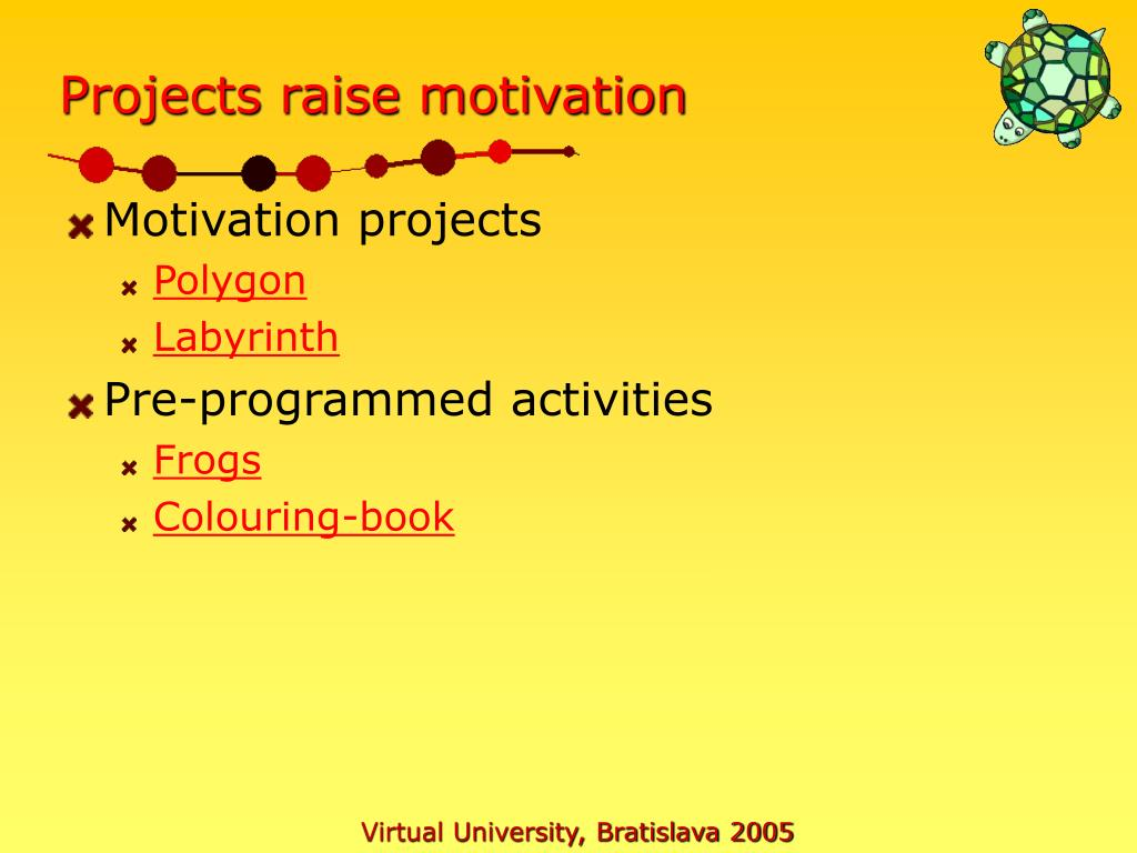 Projects raise motivation