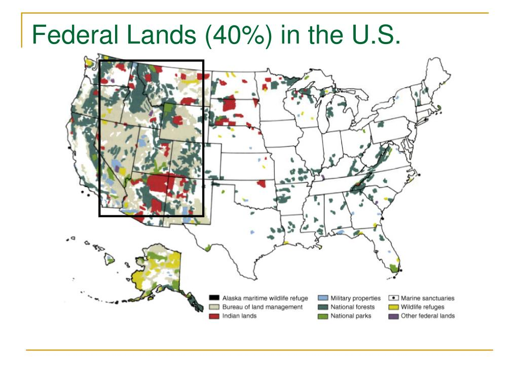 Federal Lands (40%) in the U.S.