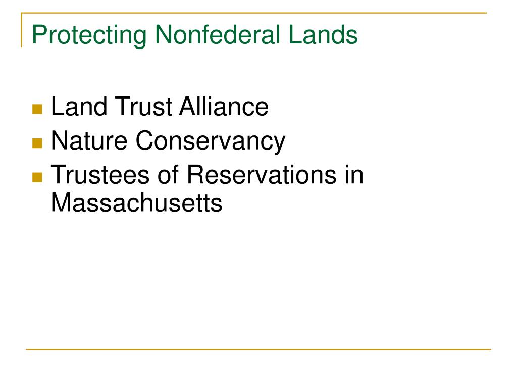 Protecting Nonfederal Lands