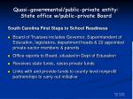quasi governmental public private entity state office w public private board