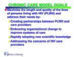 chronic care model goals