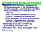 chronic care model objectives