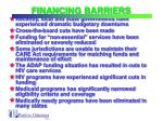 financing barriers