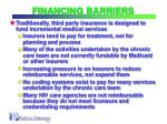 financing barriers21