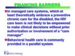 financing barriers22