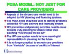 pdsa model not just for care providers