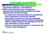 systems barriers
