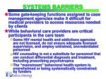 systems barriers18