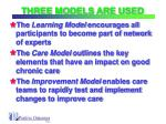 three models are used