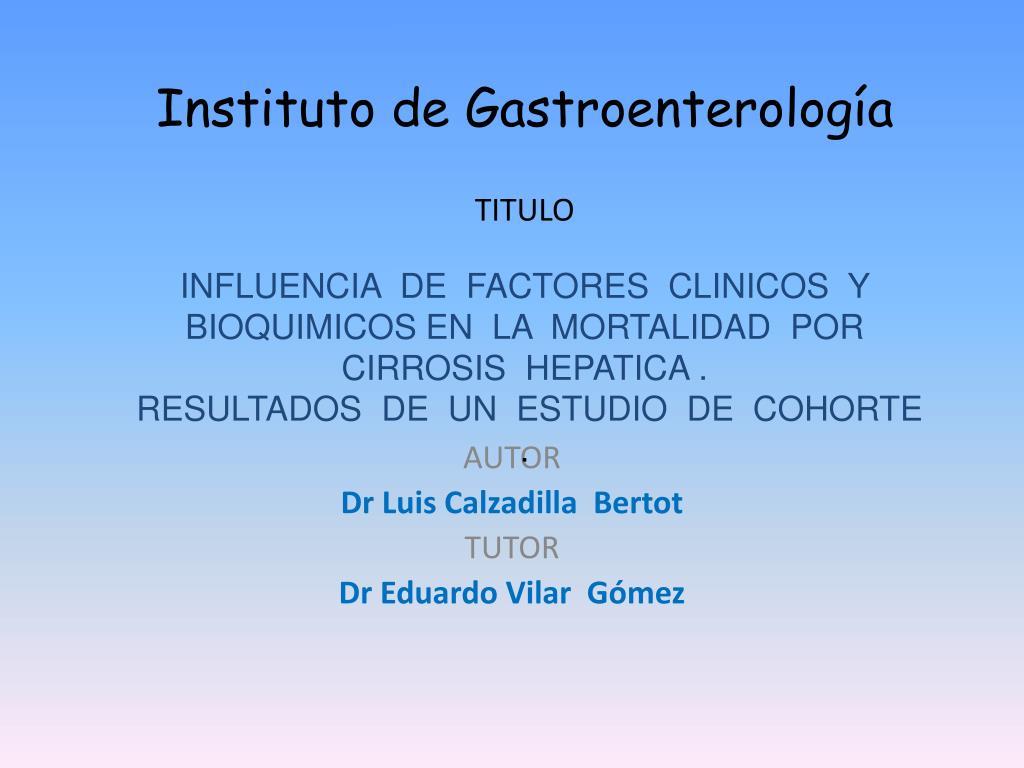 instituto de gastroenterolog a