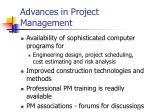 advances in project management