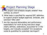 project planning stage