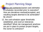 project planning stage30