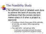 the feasibility study32