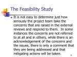the feasibility study36
